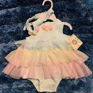 Baby Girls Tutu onesie